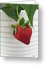 Hanging Strawberry Greeting Card