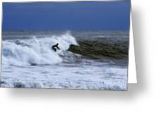 Hanging Ten In New England Greeting Card