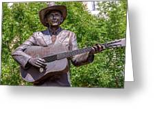 Hank Williams Statue - Cropped Greeting Card