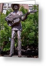 Hank Williams Statue - Montgomery Alabama Greeting Card