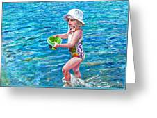 Hannah By The Sea Greeting Card