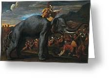 Hannibal Crossing The Alps On Elephants By Nicolas Poussin, 1625-1626. Greeting Card