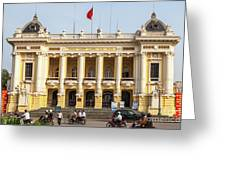 Hanoi Opera House 01 Greeting Card