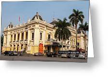 Hanoi Opera House 02 Greeting Card