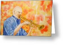 Hanson On Trumpet Greeting Card