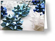 Hanukkah Bows- Photography By Linda Woods Greeting Card