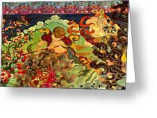 Hanuman Mural - Sera Monastery Tibet Greeting Card by Craig Lovell