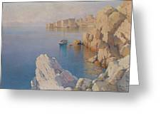 Hanzen, Alexei 1876-1937 A Cove In Dubrovnik Greeting Card