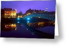 Hapenny Bridge, Dublin, Ireland Greeting Card