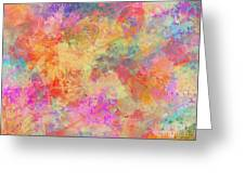 Happiness Abstract Painting Greeting Card
