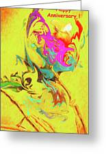 Happy Anniversary Abstract  Greeting Card