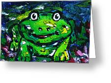 Happy As A Frog Greeting Card