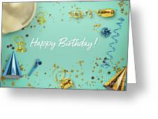 Happy Birthday Party Scene Layflat Greeting Card