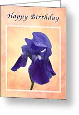 Happy Birthday Purple Iris Greeting Card