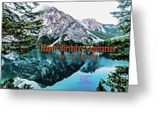 Happy Birthday Sagittarius Greeting Card by Beauty For God