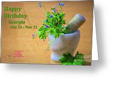 Happy Birthday Scorpio Greeting Card by Beauty For God