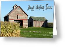 Happy Birthday Taurus Greeting Card