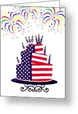 Happy Birthday Usa Greeting Card