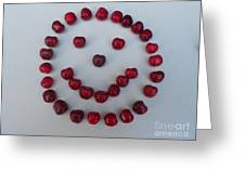 Happy Cherry Face Greeting Card