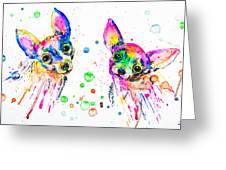 Happy Chihuahuas Greeting Card