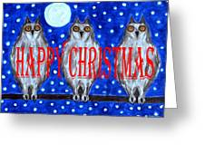 Happy Christmas 94 Greeting Card by Patrick J Murphy
