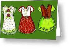 Happy Christmas Dresses Greeting Card