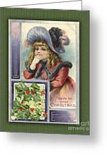 Happy Christmas Vintage Card  Greeting Card