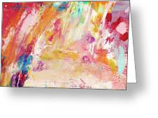 Happy Day- Abstract Art By Linda Woods Greeting Card