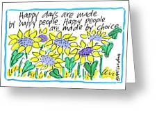 Happy Days W Blue Greeting Card