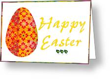 Happy Easter Abstract Greeting Card Art By Omaste Witkowski  Greeting Card