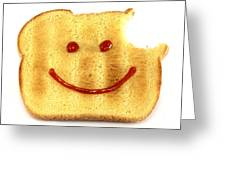 Happy Face And Bread Greeting Card by Blink Images