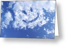Happy Face Sky Greeting Card