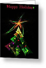 Happy Fractal Holidays Greeting Card