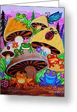 Happy Frog Valley Greeting Card