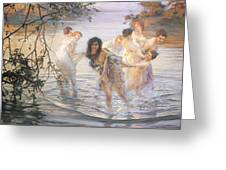 Happy Games Greeting Card by Paul Chabas