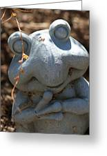 Happy Garden Frog  Greeting Card