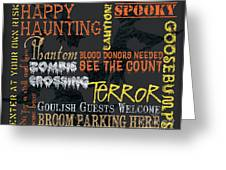 Happy Haunting Typography Greeting Card