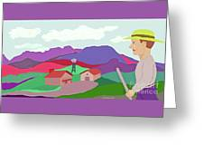 Happy Highland Farm Greeting Card
