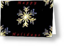 Happy Holiday Snowflakes Greeting Card