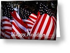 Happy Holidays Flag 1 Greeting Card