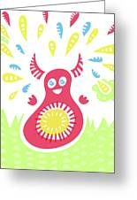 Happy Jumping Creature Greeting Card