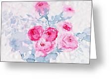 Happy Magenta -healing Roses -26 Greeting Card