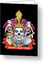 Happy New Year King Of Time Greeting Card