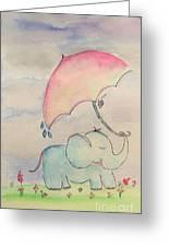 Happy Rain  Greeting Card
