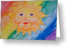 Happy Sun Greeting Card