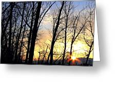 Happy Trails Sunset Greeting Card