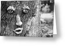 Happy Tree In Black And White Greeting Card
