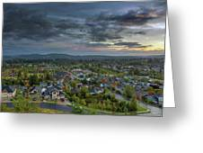 Happy Valley Residential Neighborhood During Sunset Greeting Card