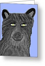 Happy Wolf Greeting Card
