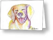 Happy Yellow Dog Greeting Card